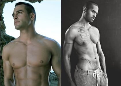 (left) Adam Bouska; (right) David Todd Model Management