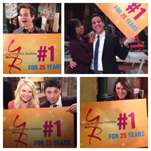 Cast and Crew of 'Y&R' Celebrates 25 Years At #1