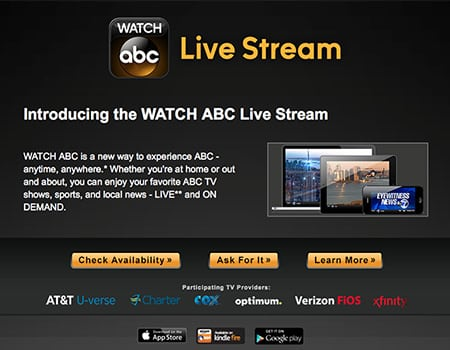 New WATCH ABC Restrictions; Must Have TV Service From Cable/Satellite Provider