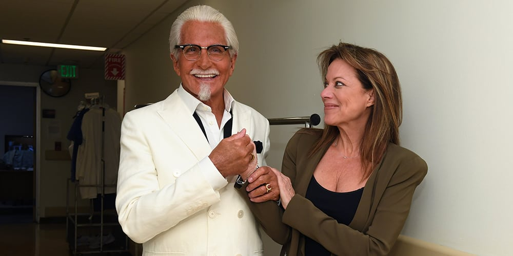 Colonel Sanders with Nancy Lee Grahn (Alexis Davis):